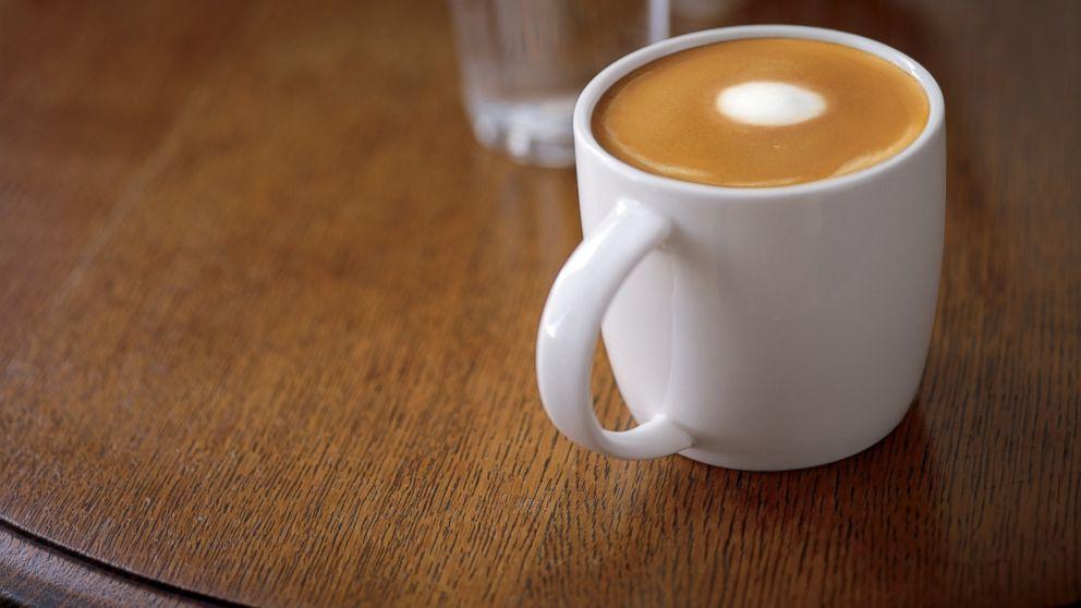 Starbucks' new flat white drink.