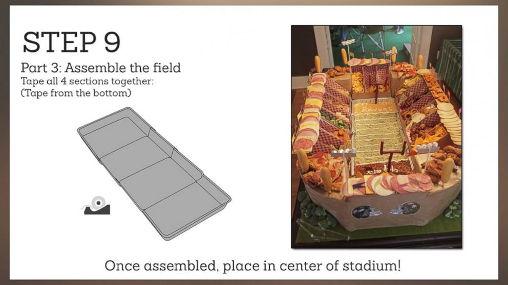 PHOTO: Try serving your food in a snackadium this Super Bowl. Step Nine.