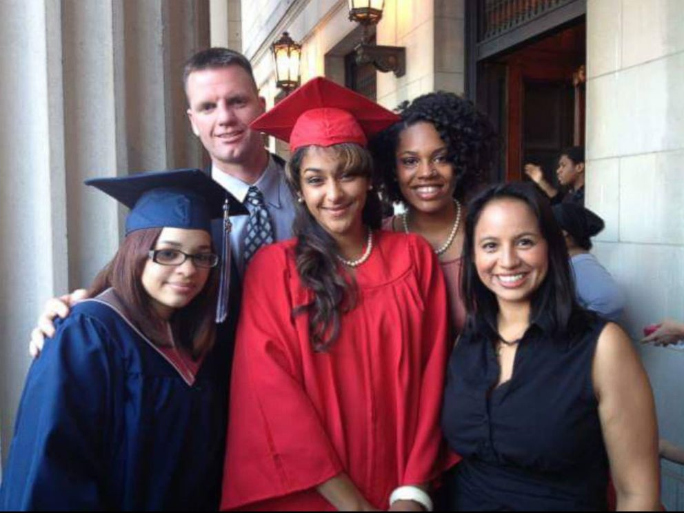 PHOTO: Kimmy Lopez on graduation day Aug. 14, 2013 with student Maritza Arroyo and teachers Mr. Guy, Miss. Dejesus and Ms.DeAngelis.