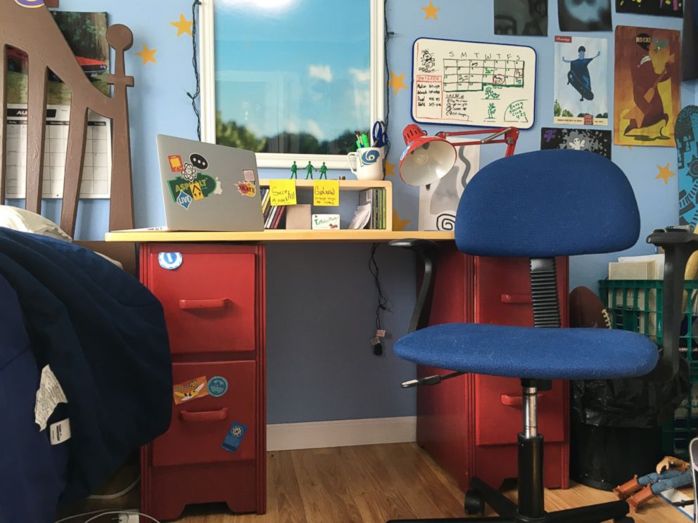 PHOTO: Morgan and Mason McGrew created a real-life replica of Andys room from the Disney Pixar film Toy Story 3.
