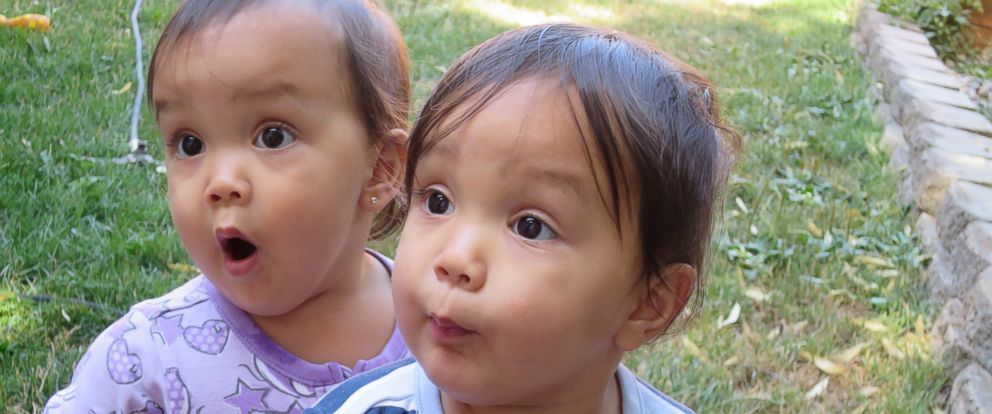 PHOTO: Twin sisters Miyako and Keira Travis are the subjects of a viral video.