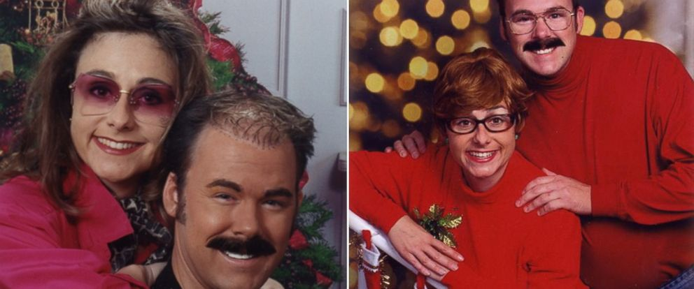 PHOTO: The Bergeron family has been creating hilarious Christmas cards for 13 years.