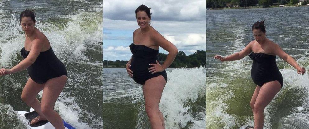 PHOTO: Overdue Pregnant Woman Wakesurfs to Help Induce Labor