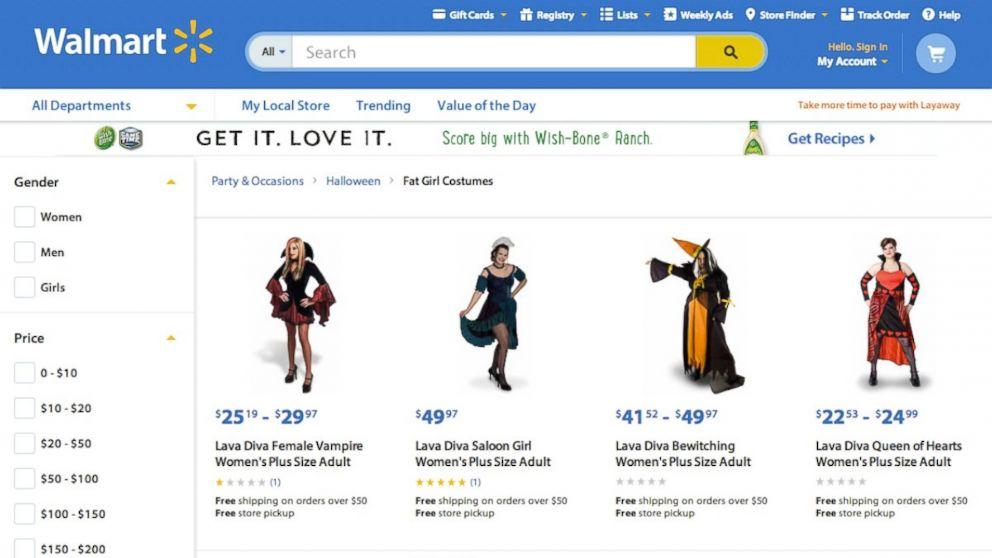 sc 1 st  ABC News & Are u0027Fat Girl Costumesu0027 on Walmart Site a Halloween Trick? - ABC News