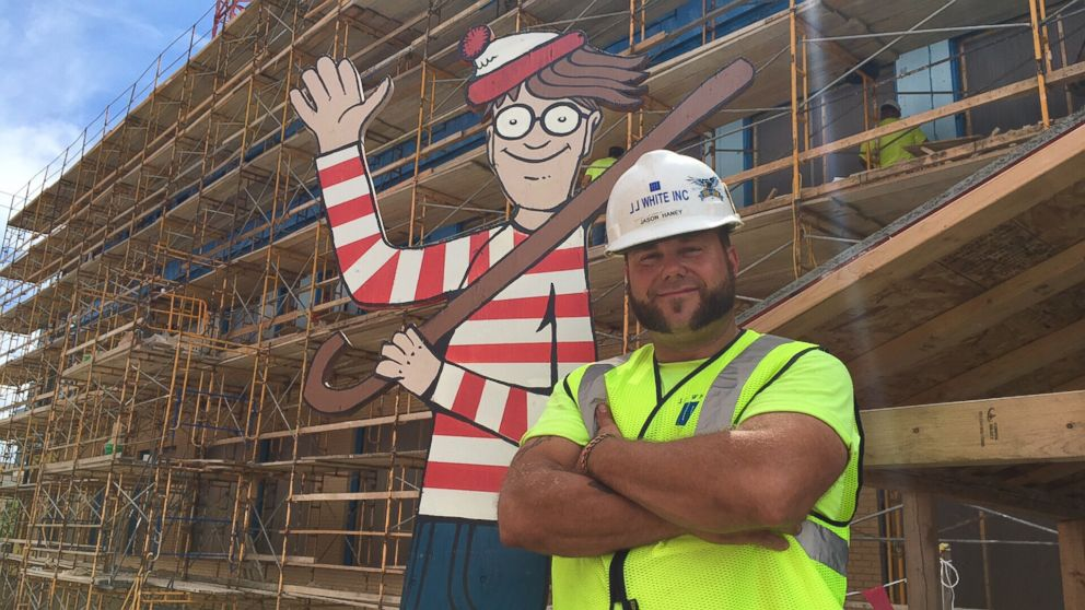 Construction Worker Hides Where's Waldo Figure for Kids in Hospital to Spot
