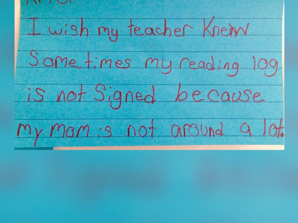 PHOTO: Schwartz uses the hashtag #IWishMyTeacherKnew to share notes with other teachers worldwide.