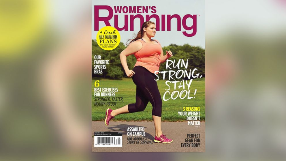 The Aug. 2015 cover of Women's Running Magazine is pictured.