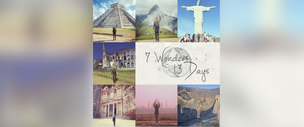 PHOTO: Megan Sullivan traveled to the 7 Wonders of the World in 13 days.