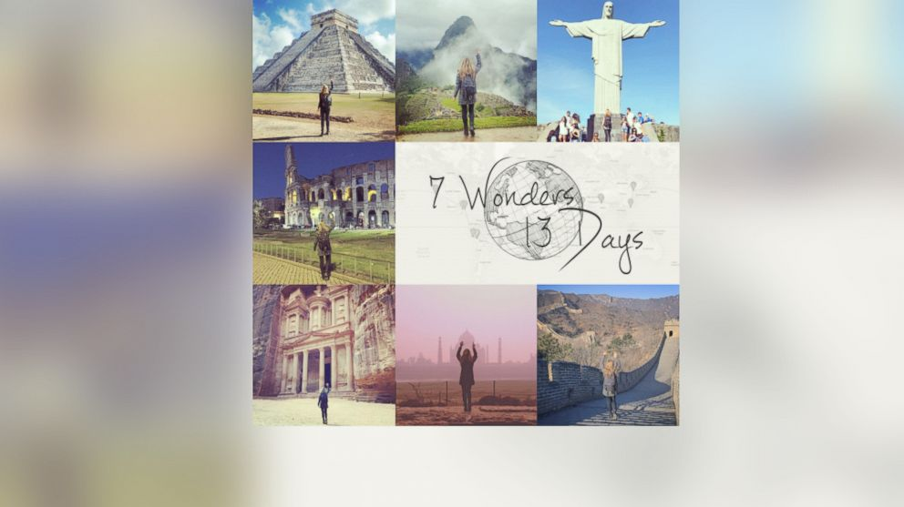 Megan Sullivan traveled to the 7 Wonders of the World in 13 days.