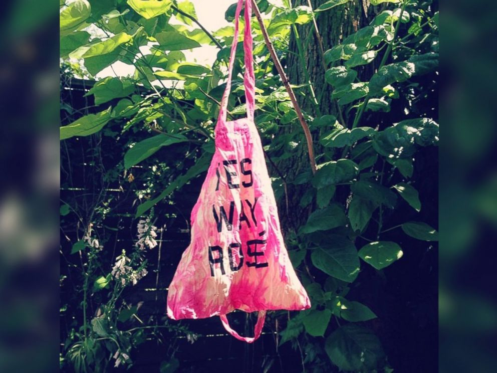 PHOTO: A Yes Way, Rosé tie-dyed tote bag.