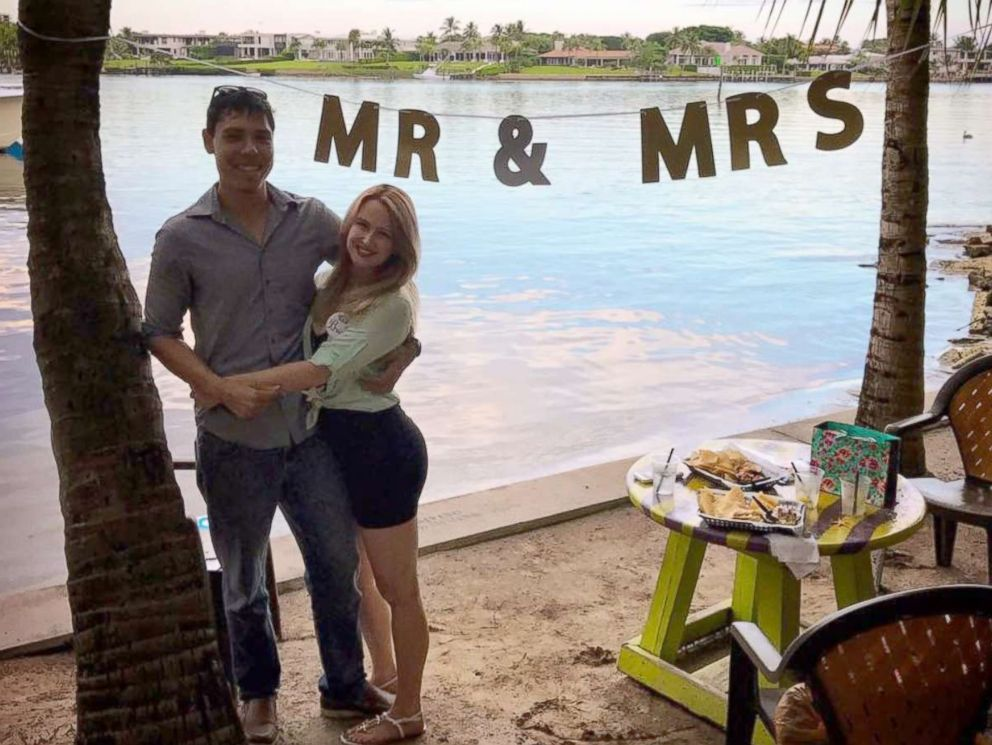PHOTO: Jessica Jean Williamson with her husband-to-be, Alex Arteaga. The two were slated to wed Sept. 9, 2017 until Hurricane Irma ravaged their wedding venue in the Florida Keys.