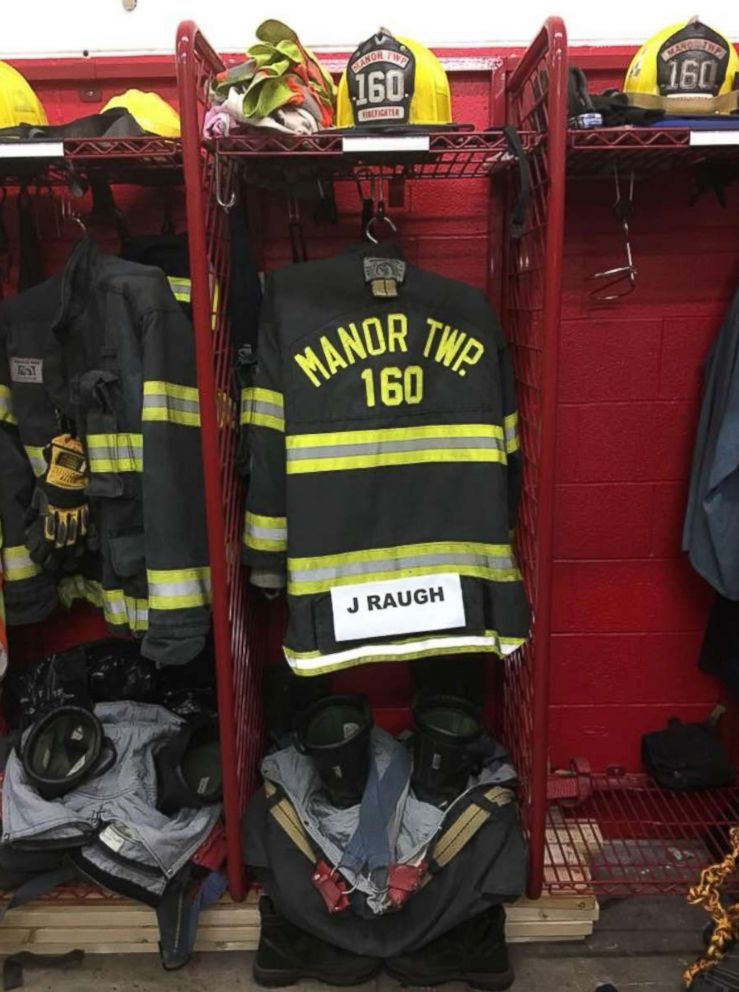 PHOTO: Manor Township VFC in Mcgrann, Pennsylvania honored James Raugh after his death on Jan. 8, 2018.