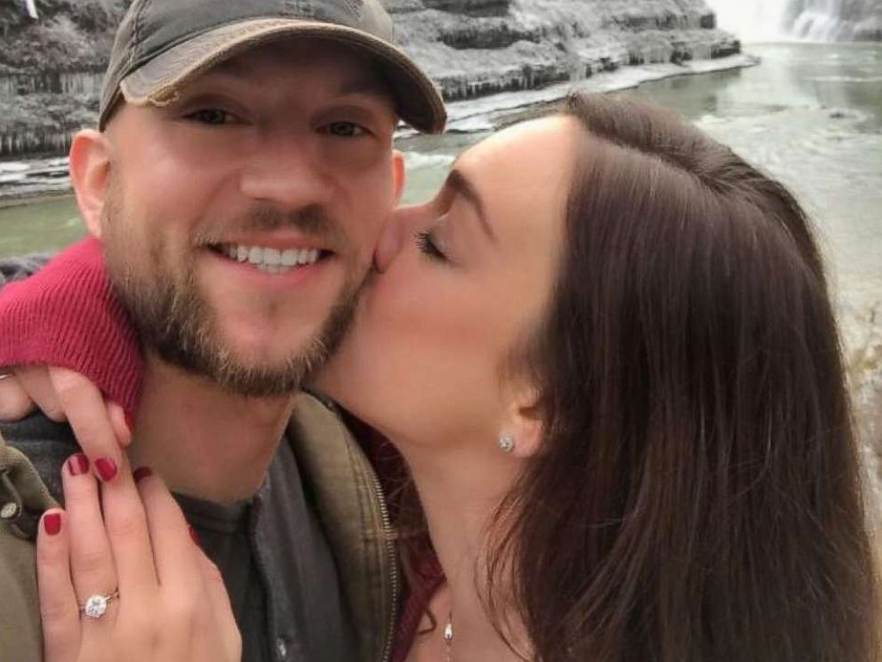 PHOTO: James Regatuso and Kayleigh Fahey got engaged on Nov. 12, 2017 inside Letchworth State Park in Castile, N.Y.