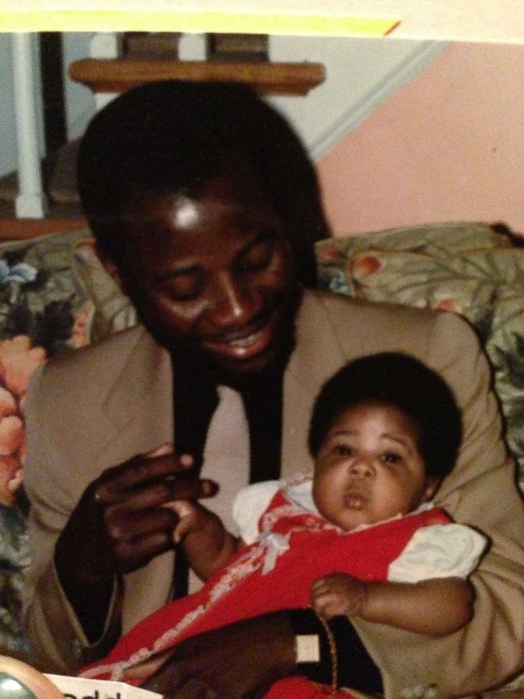 PHOTO: Jennifer Ogunsola, now 33, when she was a baby with her father.