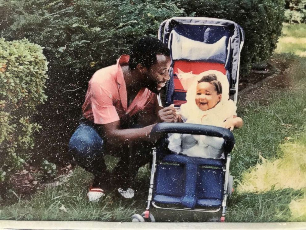 PHOTO: A throwback photo of Jennifer Ogunsola with her father.