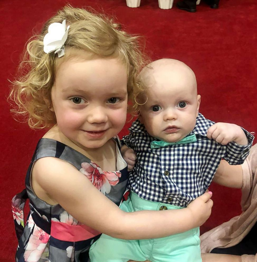 PHOTO: Seen in this undated photo, Caroline Rudeen, 3, and Alexander Rudeen, 4 months.