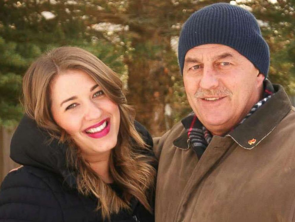 PHOTO: Kait Olidis with her late father Jim, who passed away in 2015 from cancer.
