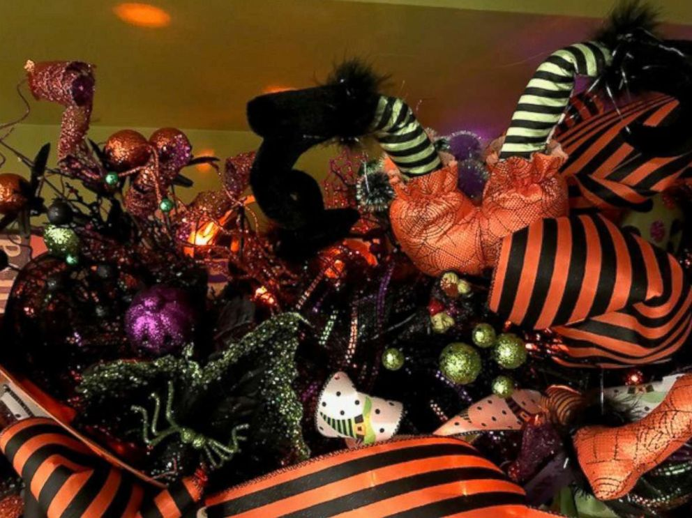 PHOTO: Kandi Jung, owner of Kandis Kreations, decorated a Halloween tree with a witches theme.