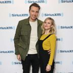 Actors Dax Shepard and Kristen Bell visit the SiriusXM Studios, March 22, 2017, in New York City.