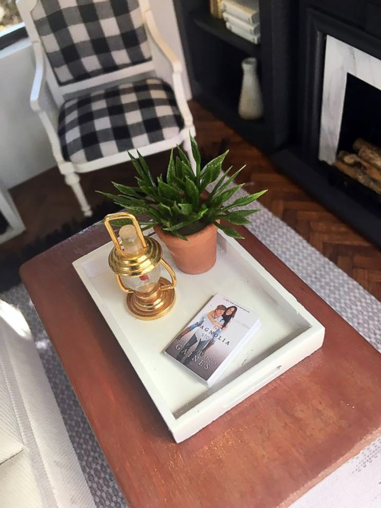 PHOTO: The coffee table features a book about Chip and Joanna Gaines.