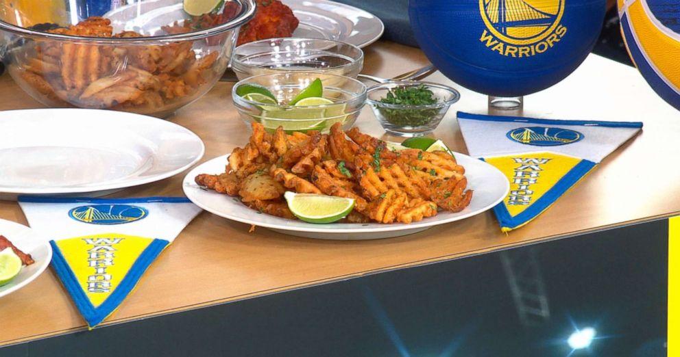 PHOTO: Chef Leah Cohens garlic waffle fries.