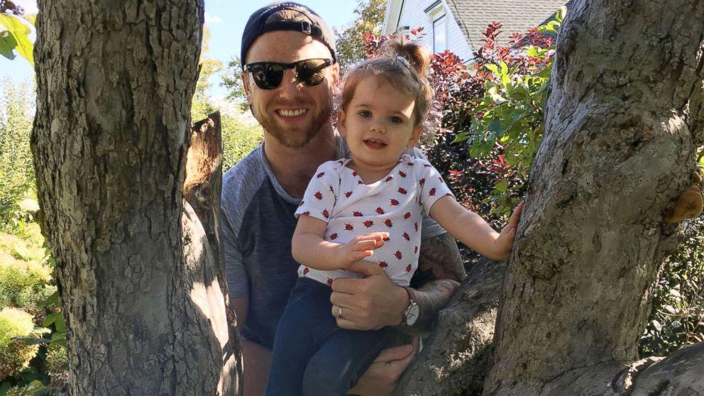 Reid LeBlanc, 2, seen in an undated photo with her father, Patrick LeBlanc Halifax, Nova Scotia.