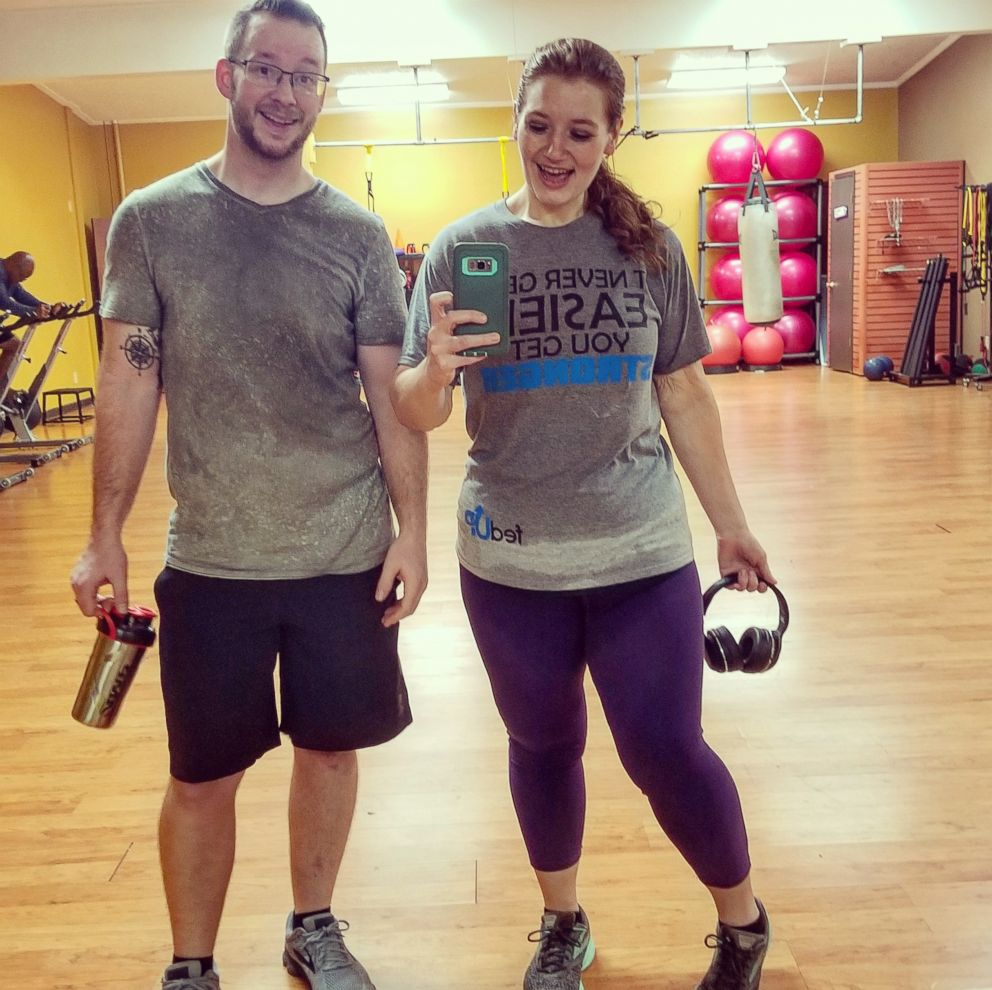 PHOTO: Lexi and Danny Reed of Terre Haute, Indiana, enjoy a healthy workout together.