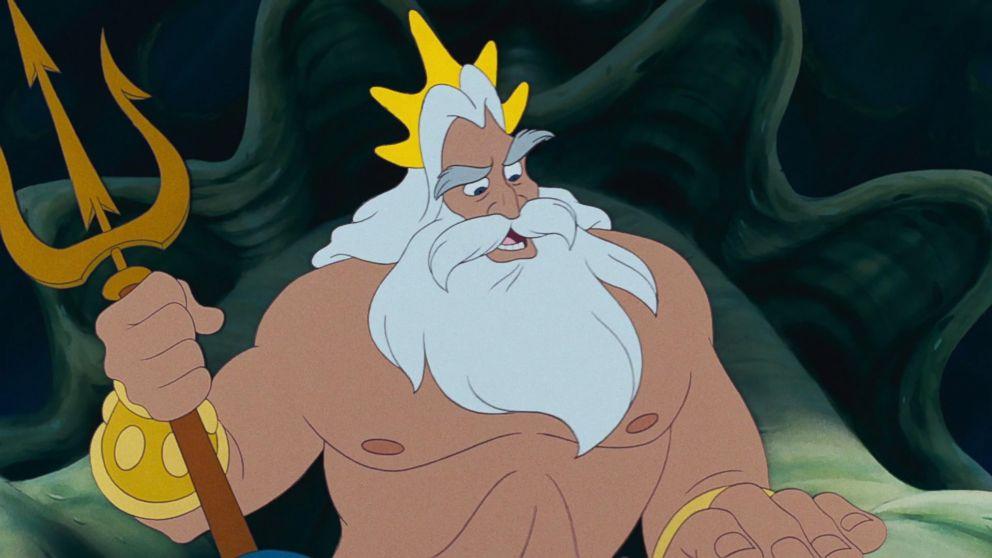 PHOTO: King Triton in Disneys, The Little Mermaid.