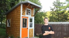 13 Year Old Builds $1,500 Tiny House In Familyu0027s Backyard