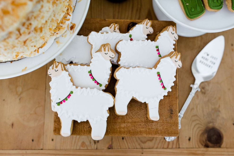 PHOTO: These yummy llama and cactus cookies were baked by Emily Js Catering.
