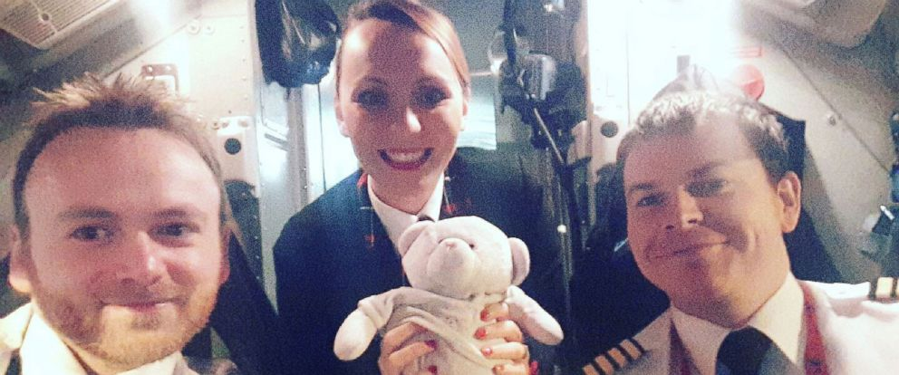 PHOTO: Loganair cabin crew members ensured the teddy bear of 4-year-old Summer, whose last name was asked to be withheld, was reunited safely with her.