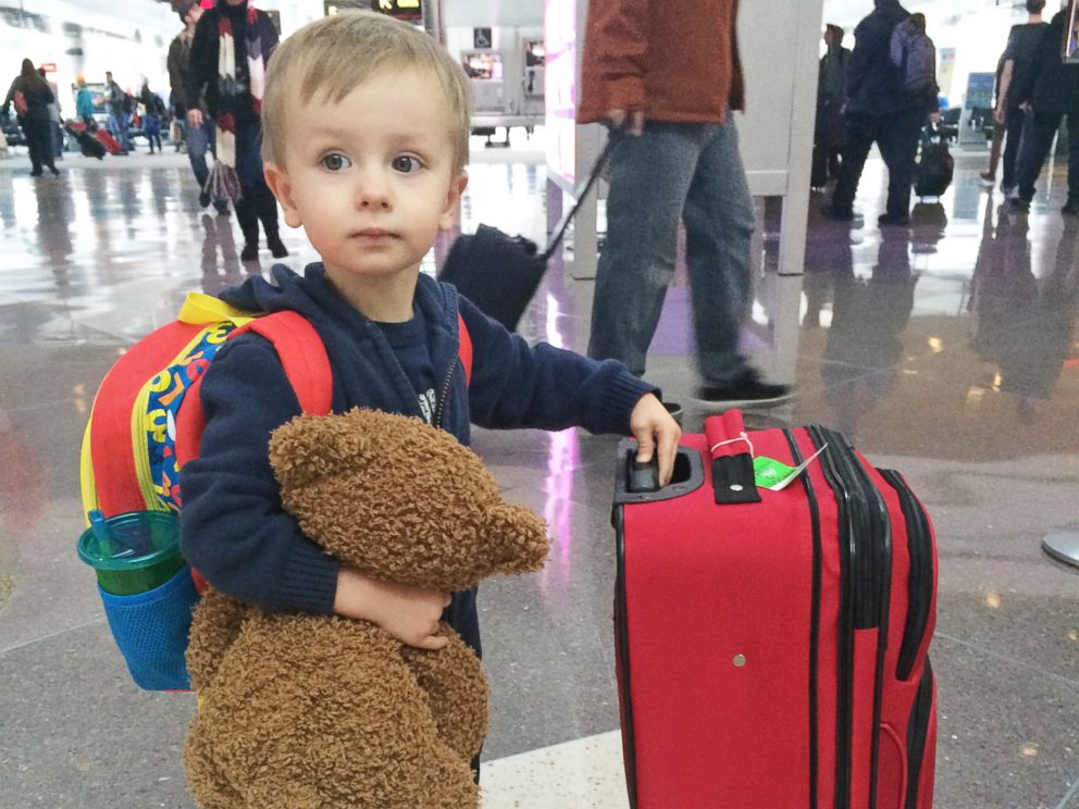 PHOTO: Luke Swofford, 4, was reunited with his beloved teddy bear after losing him in Dallas Love Field airport.