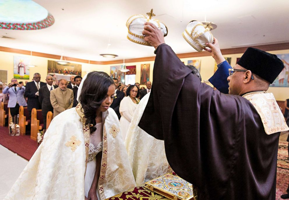 PHOTO: A ceremonial moment at the Sept. 9, 2017 wedding of Ethiopian prince, Joel Makonnen, and his bride, Ariana Austin.