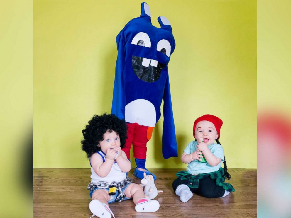 PHOTO: Lera and Marigold Mancke, 8-month-old twins, pose as characters from Broad City.