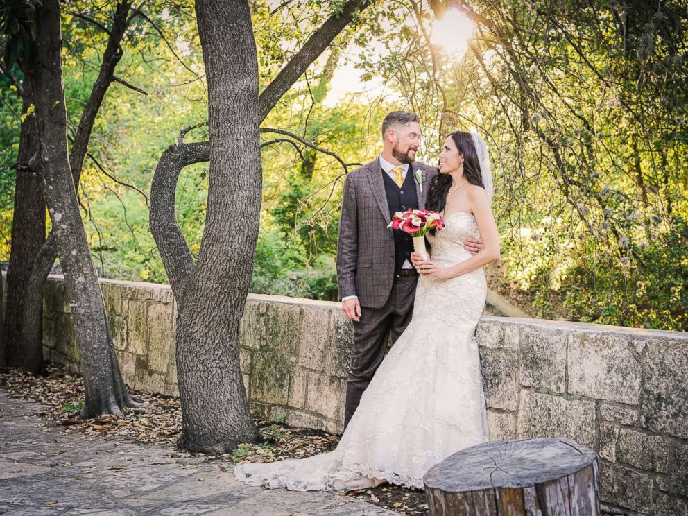 PHOTO: Bride and groom Manda and Vincent Alexander on their wedding day, March 25, 2017