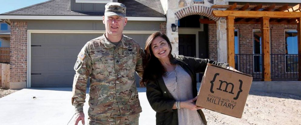 PHOTO: Maria and Patrick Reed started Moving with the Military, a home makeover project for military families.