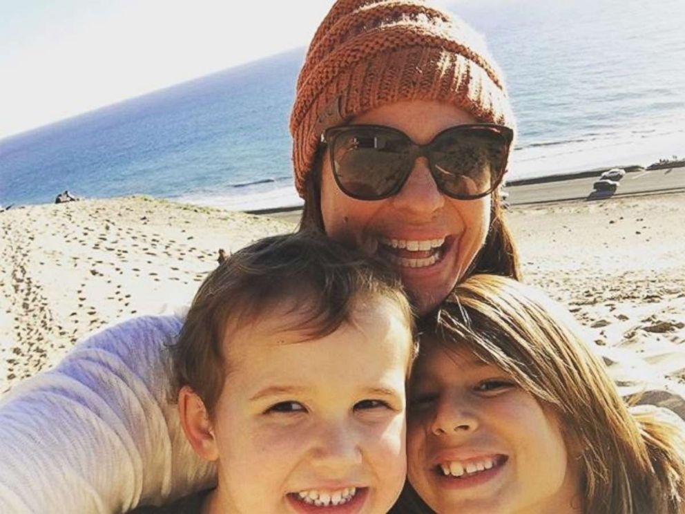PHOTO: Jessica Mendoza poses with her two sons at the beach in this undated photo.