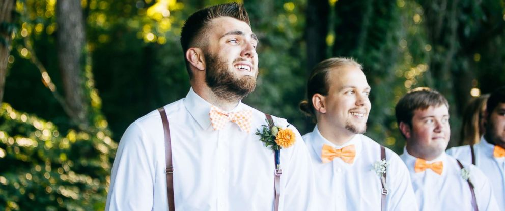 PHOTO: Photos of Micah Baker shedding tears of joy as his now wife, Bailey Baker, walked down the aisle at their wedding in Dandridge, Tennessee, have gone viral.