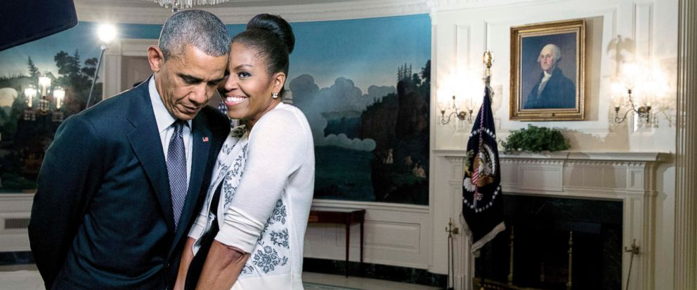 efc2fa4d636f PHOTO  President and Mrs. Obama share a moment in the Diplomatic Reception  Room of