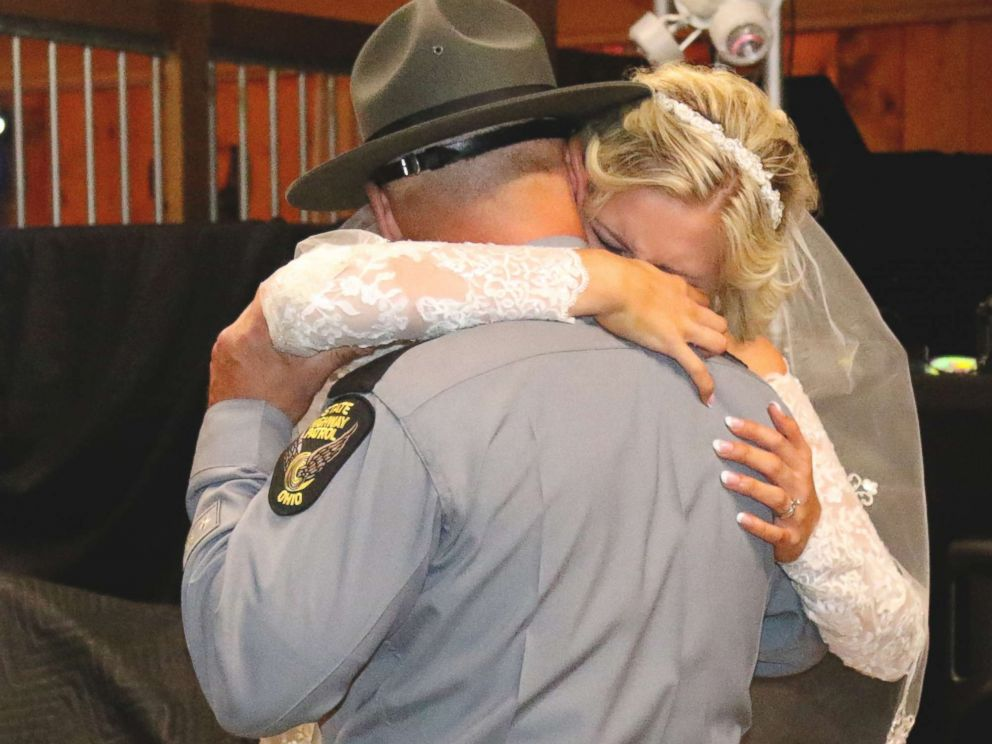 PHOTO: The overwhelmed bride is so appreciative and thankful for the heartwarming surprise.