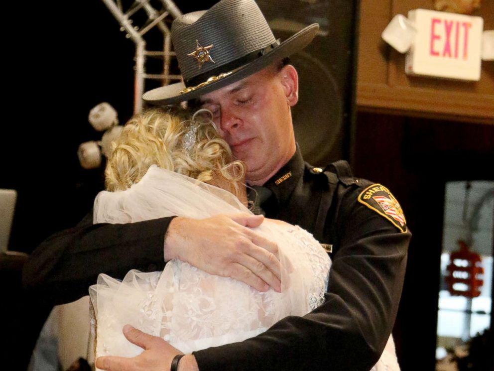 PHOTO: Mikayla Wroten broke down in tears as Sheriff Matt Champlin, her late fathers best friend, surprised her with a dance.