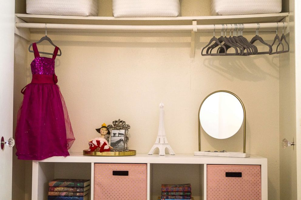 PHOTO: A little girls bedroom after Moving with the Military transformed the space.