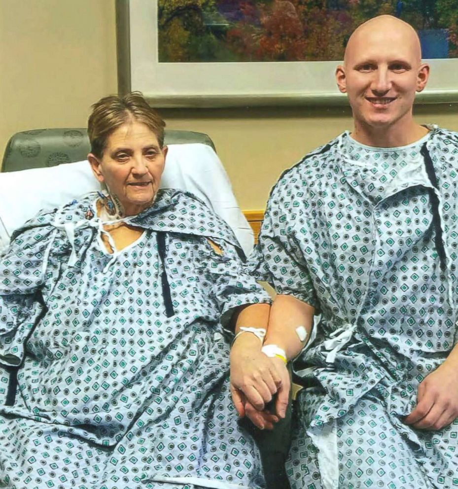 PHOTO: Brian and Diane Muscarella visit UPMCs Thomas E. Starzl Transplantation Institute a year after their transplant surgery, which took place in 2017.