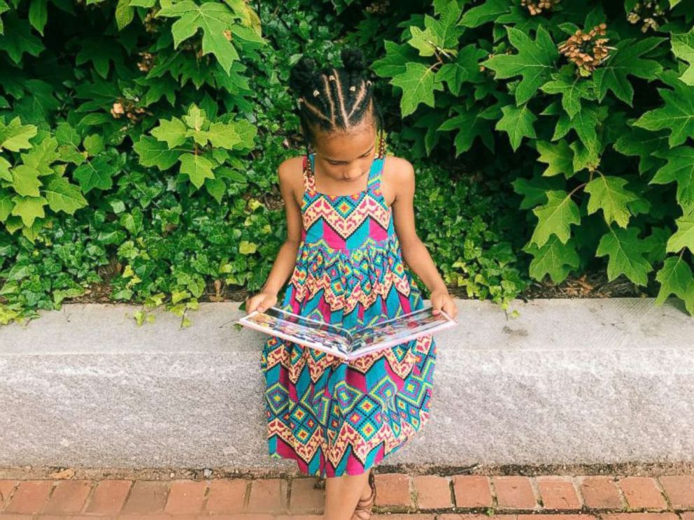 PHOTO: The daughter of Ashley Marshall, owner of the blog, Mommyweek.com, reads a book in preparation for back-to-school season.