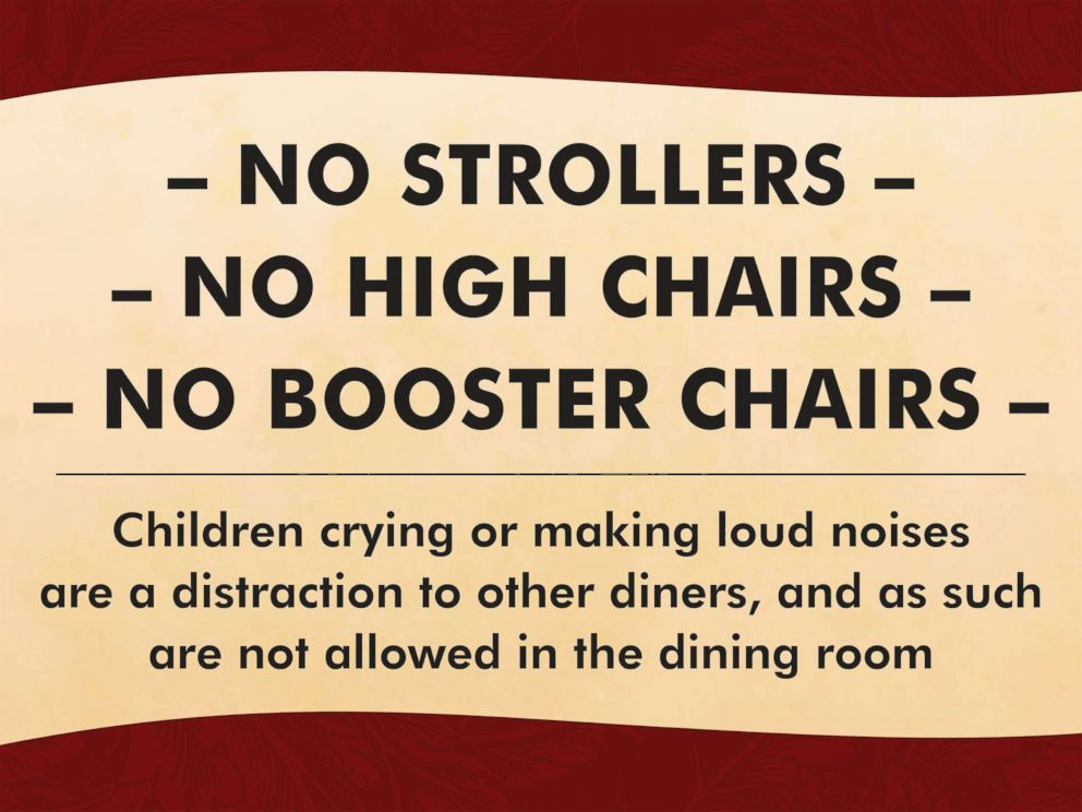 PHOTO: A San Francisco restaurant owner says its policy on kids is good for business.