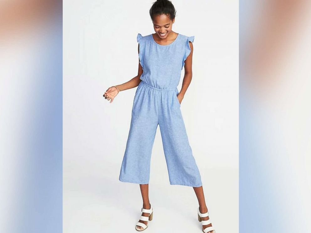 PHOTO: Old Navy Sleeveless Linen-Blend Utility Jumpsuit for Women on sale for $38.00.