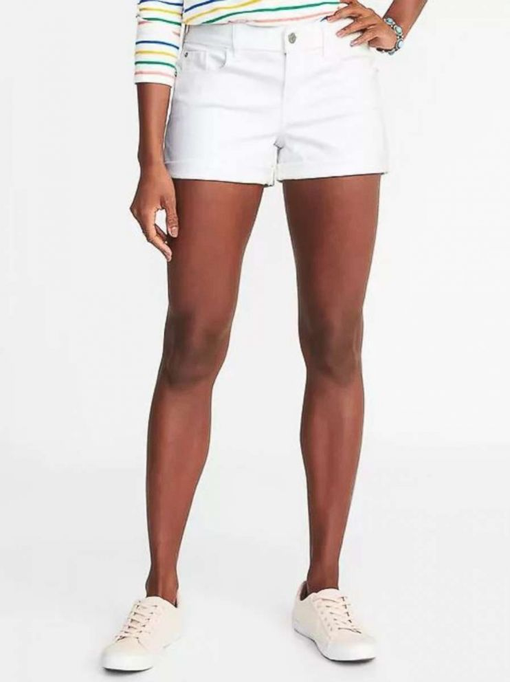 PHOTO: Old Navy Clean-Slate Boyfriend Shorts for Women on sale for $24.00.