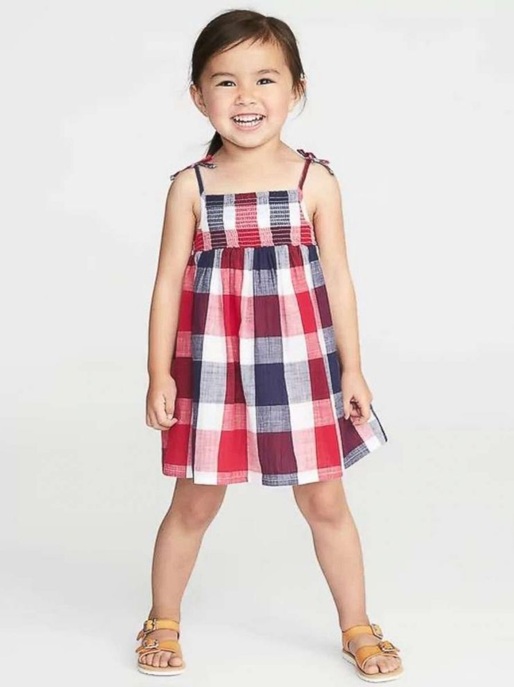 PHOTO: Old Navy Plaid Poplin Sundress for Girls on sale for $18.00.