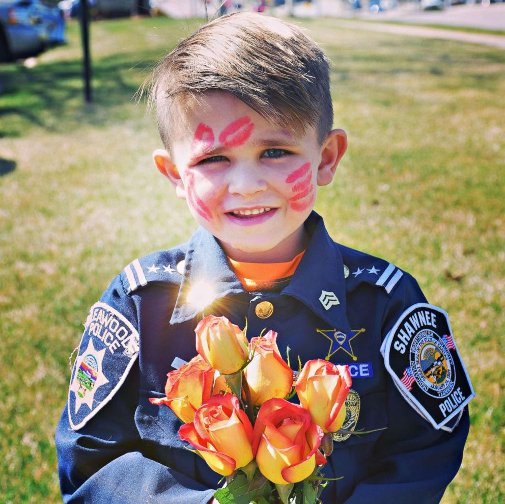 PHOTO: Oliver Davis, 6, wants to be a police officer when he grows up and said he enjoys showing kindness towards people.