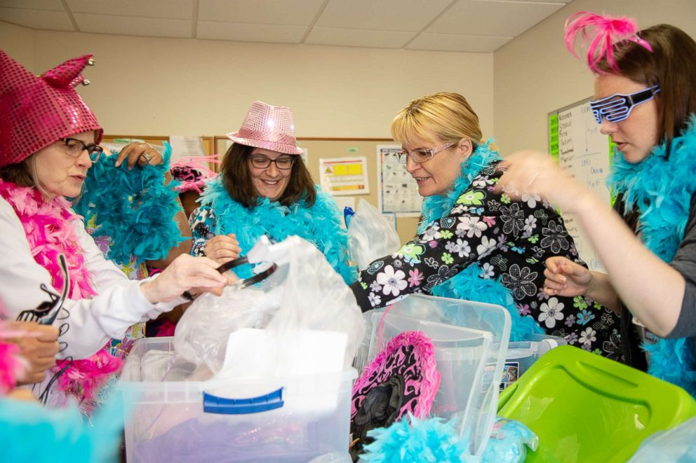 PHOTO:Nurses at Magee-Womens Hospital of UPMC get all dressed up to sing to their patients.